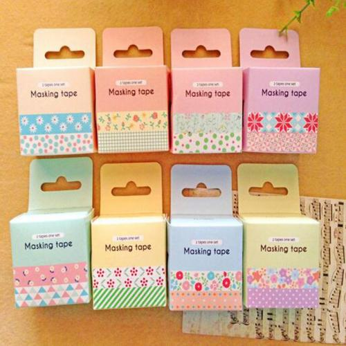 2 pcs bag New Kawaii Flower Lace Japanese Washi Tape Masking Tape for Home Decoration Scrapbooking