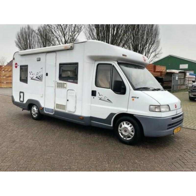 Fiat 2.5 TDI Burstner T604 Camper / Vast Frans Bed / Camera