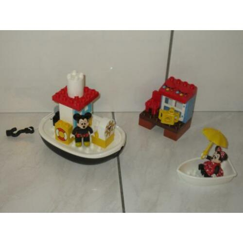Duplo Disney boot met Mickey en Minnie Mouse