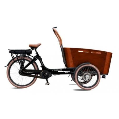 TOP Elektrische Vogue Carry bakfiets middenmotor bakfietsen