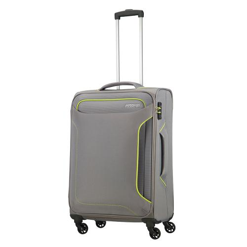 American Tourister Holiday Heat Spinner 67 Metal Grey American Tourister Zachte Koffers